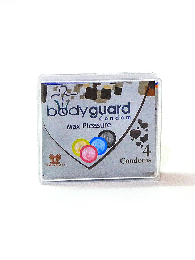 کاندوم خاردار – نازک شکلاتی 4تایی بادیگارد – bodyguard max pleasure