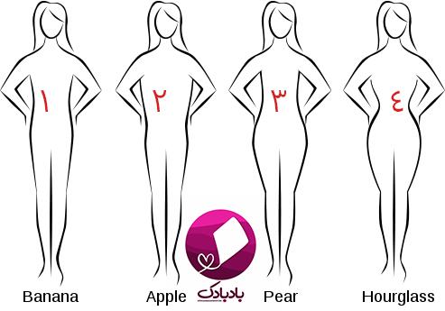 فرم های بدن زنانه